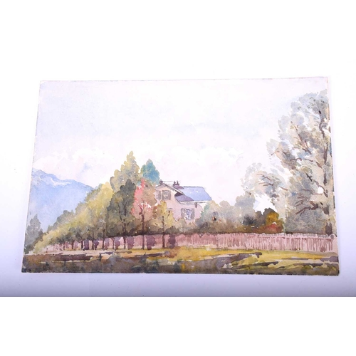 25 - A collection of Italian view watercolours early - mid 20th century, to include the Convent of S. Ber...
