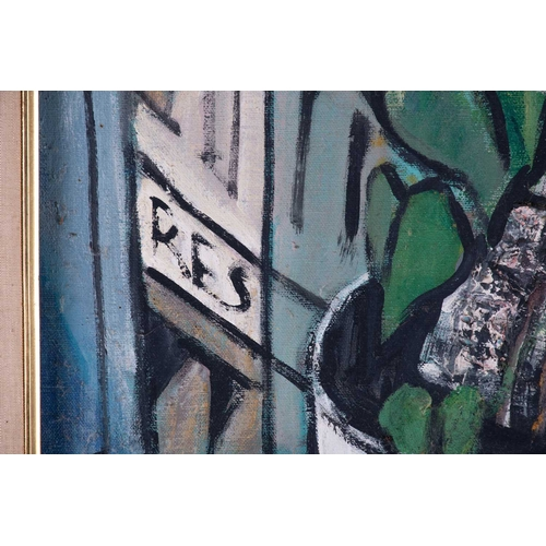 30 - † Attributed to Takis Nicholas (1903-1965) American , depicting a still life, probably in Paris, sig...