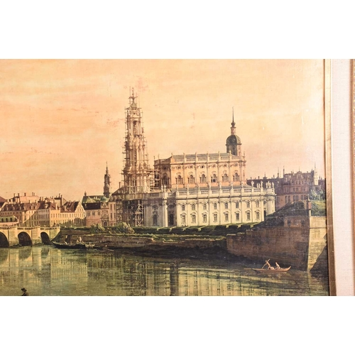 37 - After Bernardo Bellotto, (c. 1721-1780) Italian, depicting a view of Dresden from the right bank of ...