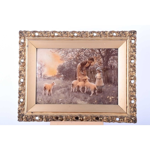 39 - After E A Waterlow, 'The Nursery', chrystoleum, mounted within an ornate gilt frame, 17 x 24.5cm...