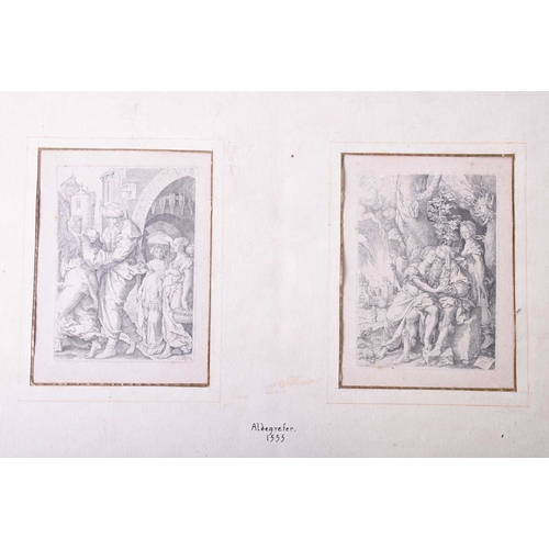 45 - Heinrich Aldegrefer (1502 - 1555/61), The Story of Lot, four copperplate engravings, monogrammed and...