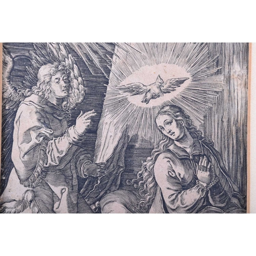 46 - Albrecht Durer (1471 - 1528), The Annunciation (The Small Passion), woodblock, monogrammed top right...