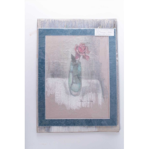 48 - † Val Hamer (20th-21st century) British a collection of still life and floral studies, pastel on pap...