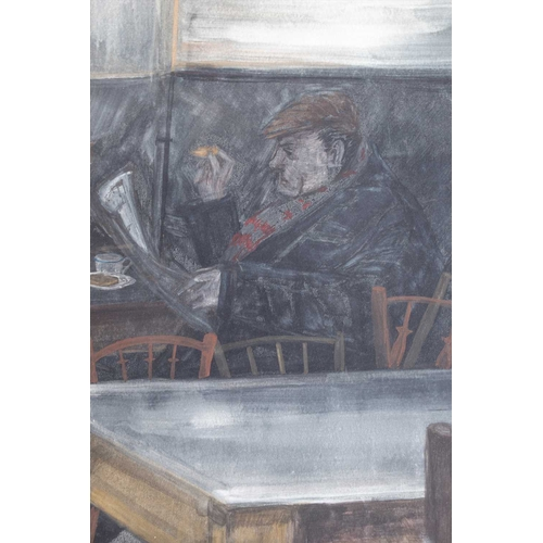 49 - English School, 20th century collection of eight mixed media on paper depicting scenes in markets an...