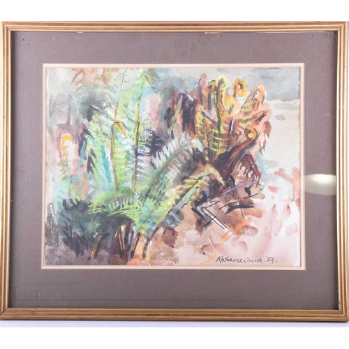 5 - Katharine Church (1910 - 1999), 'Fern in May', signed and dated 84, watercolour, Sally Hunter Fine A...