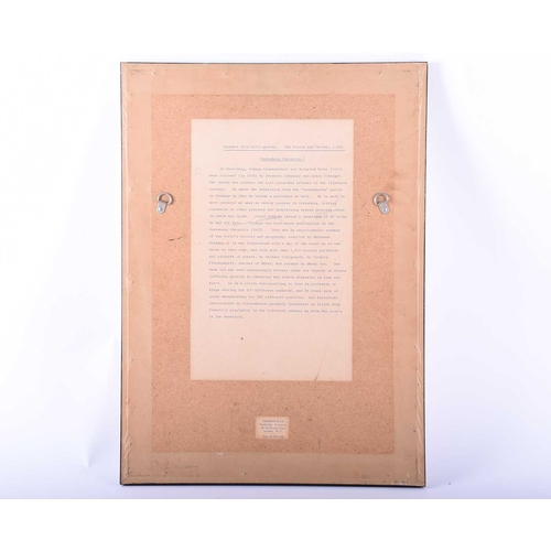 50 - Incunabula, a single titled sheet 'Berta etas Mudi', an extract from the Nuremberg Chronicle, Van Ho...