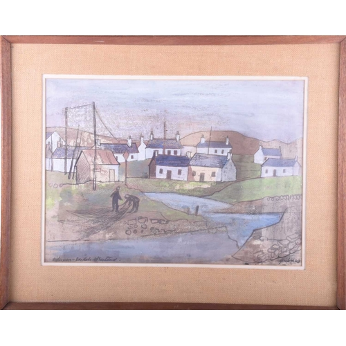 6 - Gordon, (20th century), 'Fisherman - Easdale, West Scotland', signed and dated 63, watercolour, 36.5...