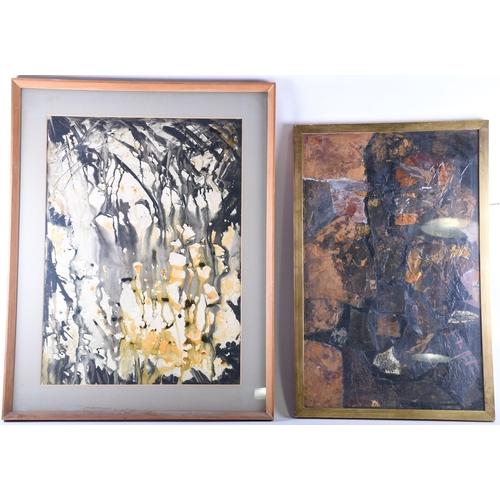 55A - Violet Alington Johnston (20th century, contemporary), 'Subterranean', watercolour, ink inscribed la...