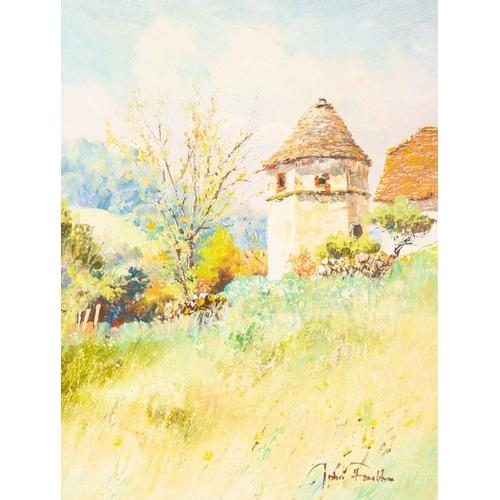 33 - † John Donaldson (born 1945) British, two oils on canvas, titled 'L'apres Midi', and 'Le Pigionneir'...