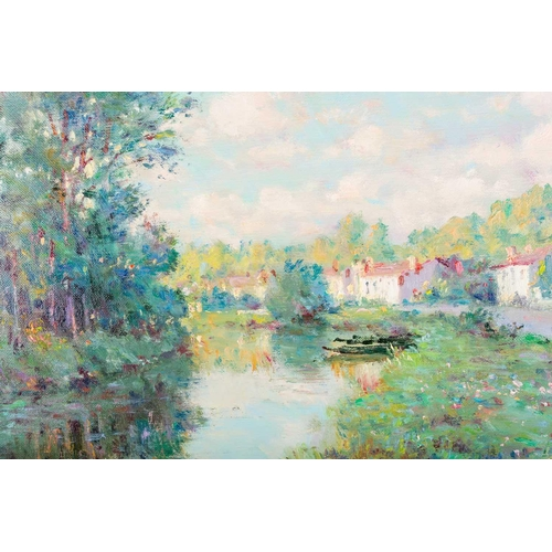 31 - † Jean Kevorkian (b.1933) French, 'Coulon', an impressionist style view of a river on a summer's day...