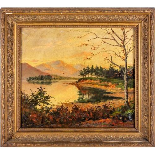59 - 19th century English school, Friars Crag, Derwentwater, Keswick, unsigned, oil on canvas, 35.8cm x 4...