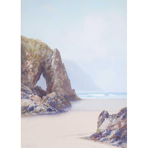 7 - Frederick John Widgery (1861-1942) British, two watercolours, one a view of Durdle Door in Dorset, t...