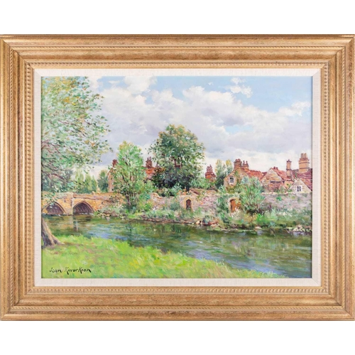 9 - † Jean Kevorkian (b.1933) French, 'Bakewell Bridge, Derbyshire', an impressionist style river view, ...