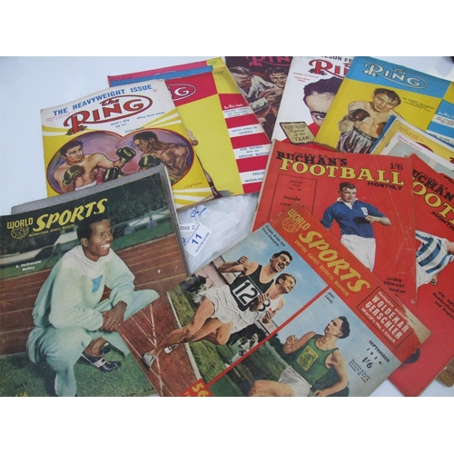 11 - Quantity boxing & football magazines cira 1953-54...