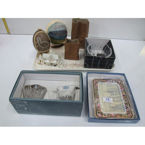 15 - Tray of collectables coalport,wedwood etc...