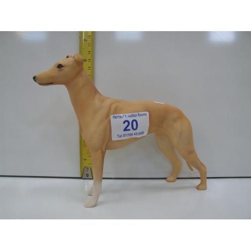 20 - Beswick matt finish greyhound jovial Roger...