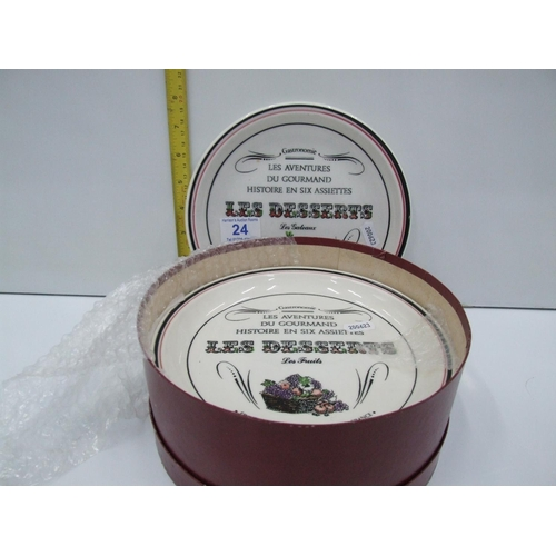 24 - Box French plates...