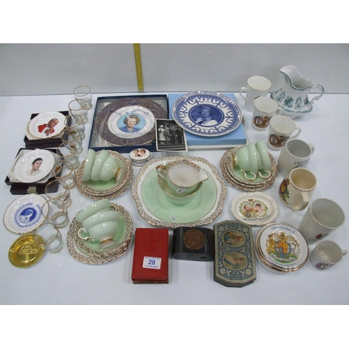 28 - Quantity collectables china tea set etc...