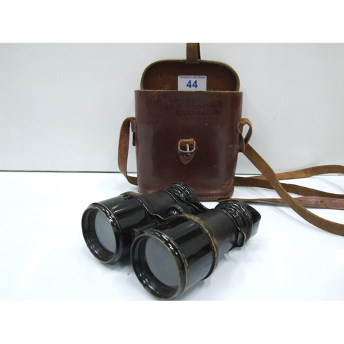 44 - Pair Binoculars in leather case...