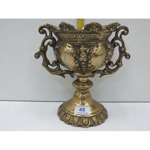 48 - Heavy Brass vase...