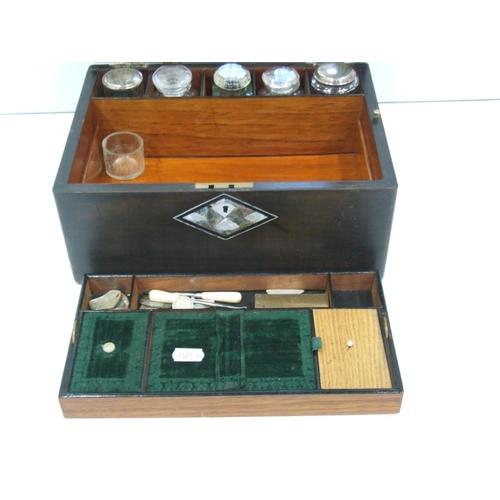52 - Mother of pearl inlay vanity/jewellery box...