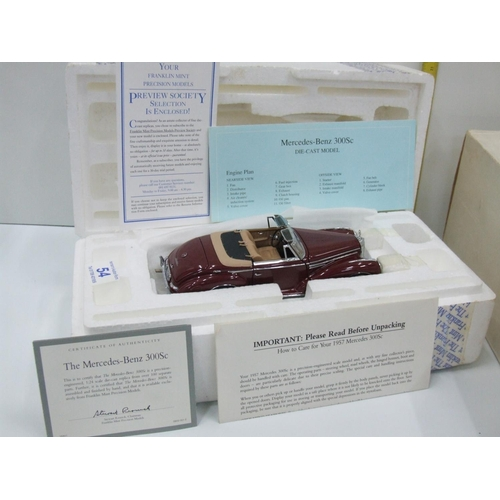 54 - 1957 Merc Benz model car with certificate boxed...