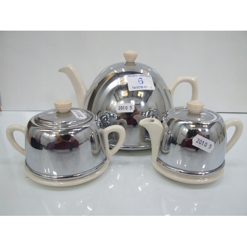 6 - 3 piece deco tea set...