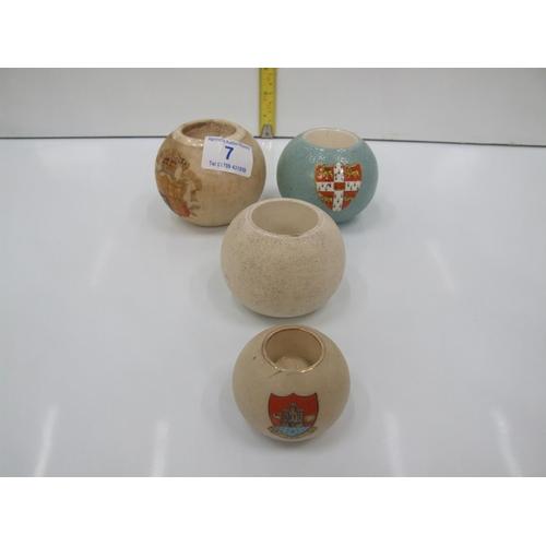 7 - 4 matchsticks holders, macintyre&carlton wear circa 1837-1897 1 A/F...