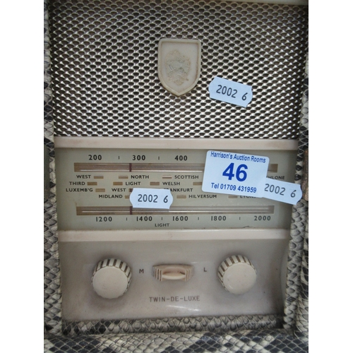46 - RetroRadio in shape of vanity case...