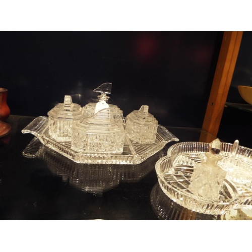 innovative design 57b7c 59f78 An Art Deco glass dressing table set with four boxes ...