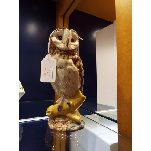 13 - A Royal Doulton Whyte and Mackay Scotch Whisky decanter in the form of an owl modelled by John. G To...