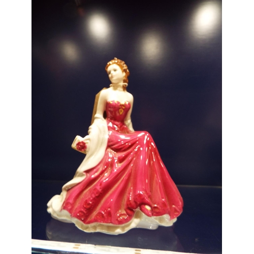 16 - A Royal Worcester figure 'Ruby Wedding Anniversary'...