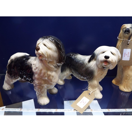 20 - One Melba-ware and one Coppercraft model of Old English Sheepdogs...