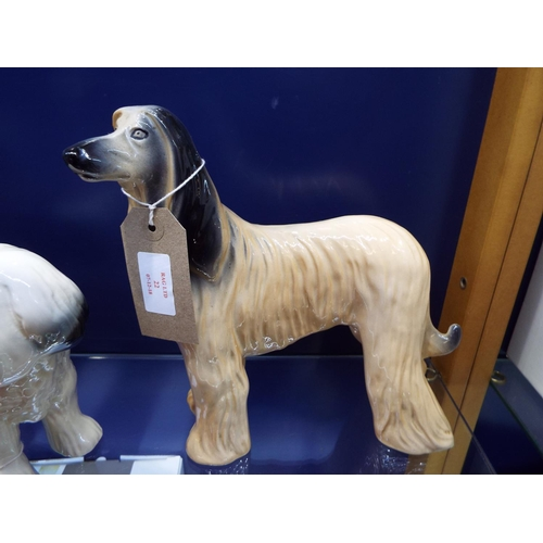 22 - A ceramic model of an Afghan hound...