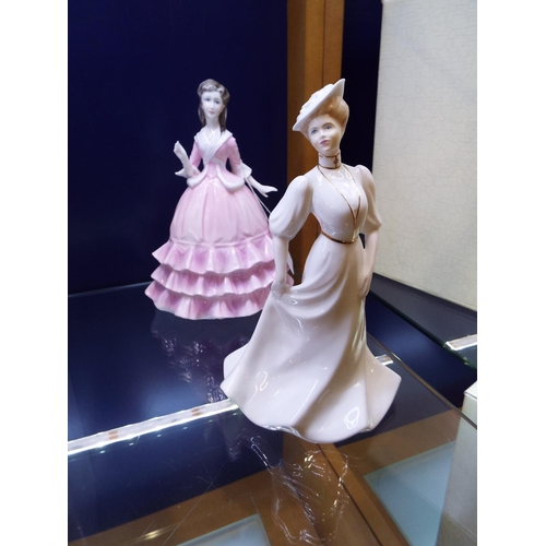 25 - A Royal Worcester figurine 'Diana' and a Coalport figurine 'Lorraine'...
