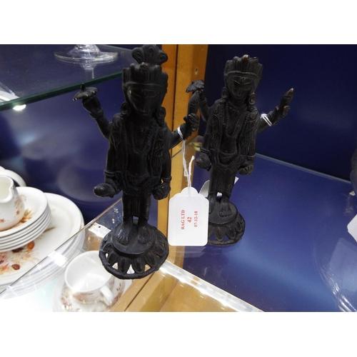 42 - A pair of bronze Indian Deity figures...