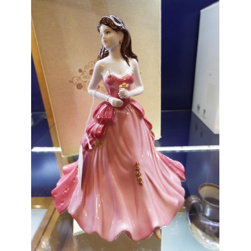 9 - A Coalport Ladies Of Fashion figurine 'Ruby Anniversary', boxed...