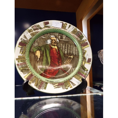 21 - A Royal Doulton series ware plate 'The Book Worm'...