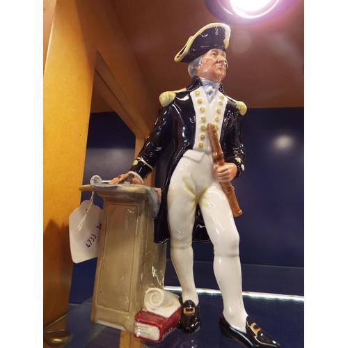 39 - A Royal Doulton figure 'The Captain', marks to base No HN 2260...