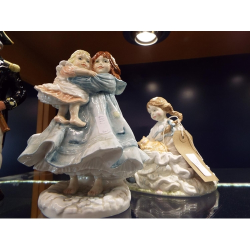 40 - Two limited edition Royal Worcester figures 'Safe At Last' 1822/12500 and 'Love' 2296/9500...