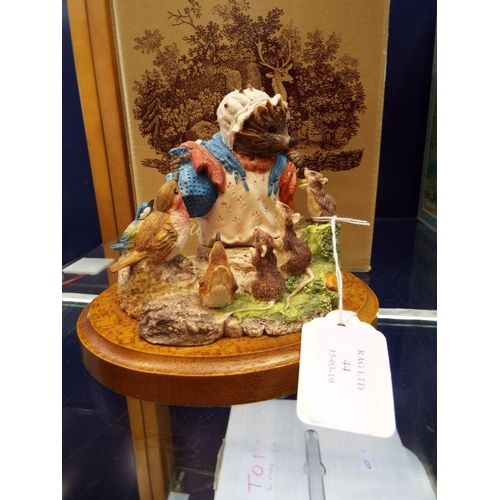 44 - A John Beswick studio sculpture Beatrix Potter series figural group 'Mrs Tiggy-Winkle', boxed...