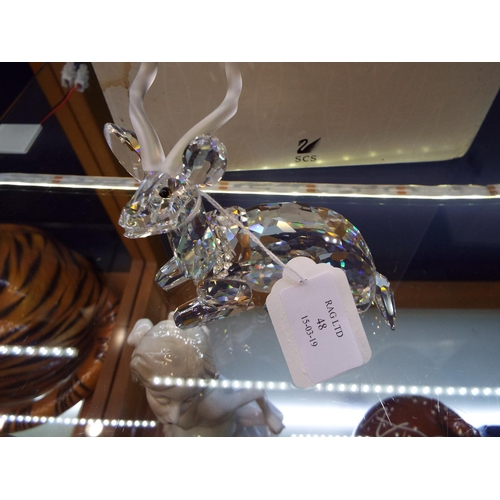 48 - A boxed Swarovski annual edition 1994 'Inspiration Africa - The Kudu' complete with certificate...