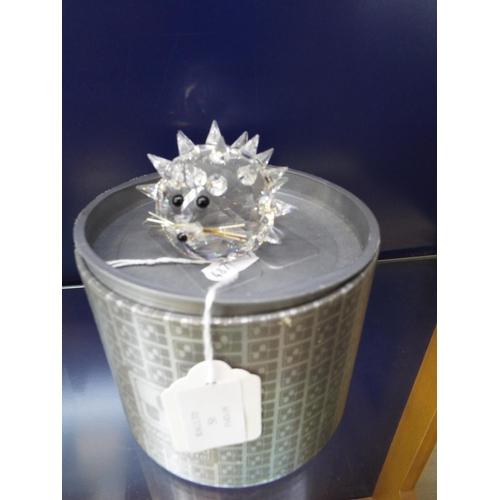 50 - A Swarovski silver crystal 'Hedgehog', No 7630, boxed...