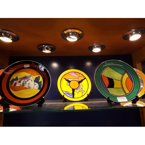 9 - A group of five Wedgwood limited edition Clarice Cliff collectors plates to include 'Celestial Fires...