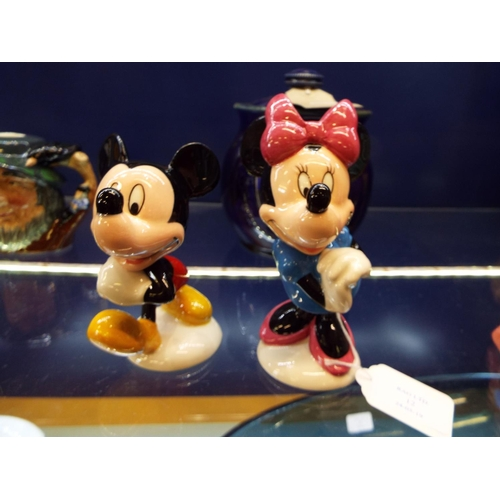 12 - Two Royal Doulton figurines The Mickey Mouse Collection, 'Mickey' and 'Minnie', MM1 & MM2...