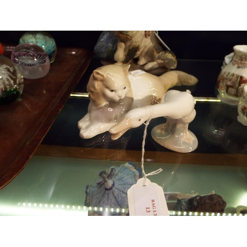13 - A Nao cat and a Lladro goose