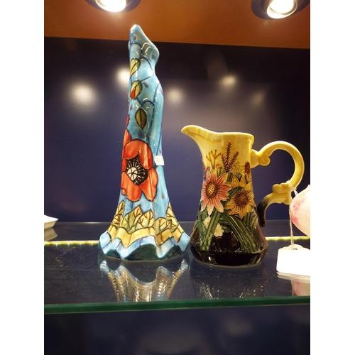 47 - A Tipton-ware jug and a decorative vase