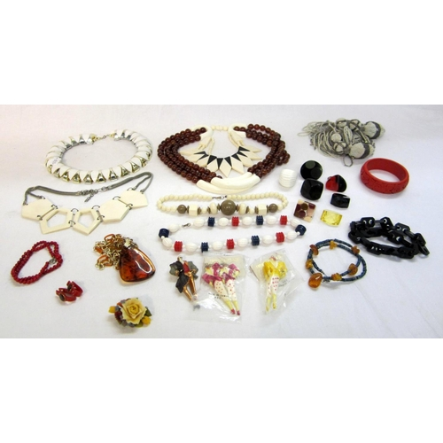 432 - Vintage Style Plastic Costume Jewellery Necklaces, rings etc....