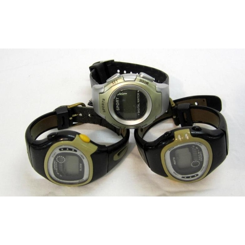 436 - 3 Chrono Digital Alarm Watches (3)...