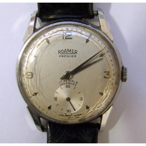 404 - Gents Roamer Premier Wristwatch with secondary seconds dial, part baton, part Arabic numerals & Bifo...